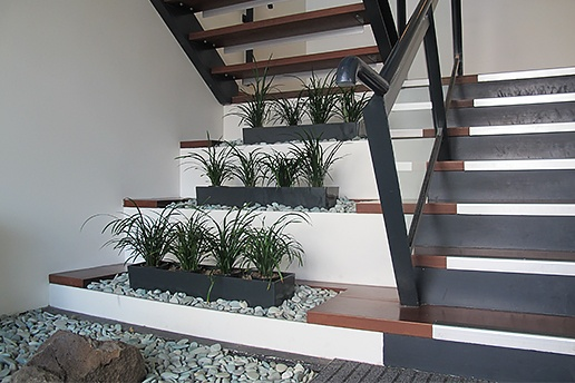 Plantscape on stairs